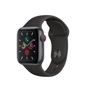 Apple Watch Series 5 GPS + Cellular 40mm Space Grey Aluminium Case with Black Sport Band S/M & M/L