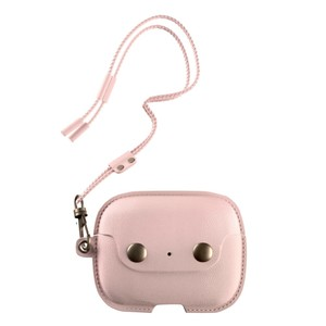 Woodcessories Aircase Leather Necklace Case Old Rose for Airpods