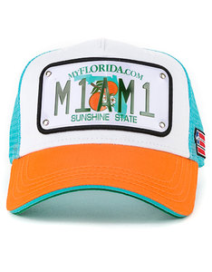 dc3a83eb24a4f FUZION CAPS. AED189.00. Raqam USA Collection Florida Plate Miami Model 1 Cap