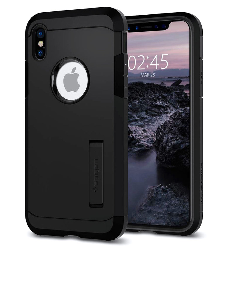 reputable site e347a 55ab5 Spigen Tough Armor Case Matte Black For iPhone X