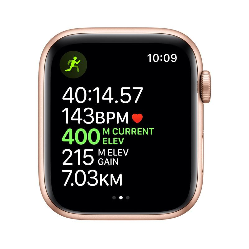 Apple Watch Series 5 GPS 44mm Gold Aluminium Case with Pink Sand Sport Band S/M & M/L