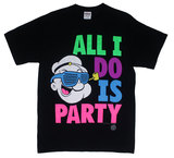 All I Do Is Party Black Men's T-Shirt