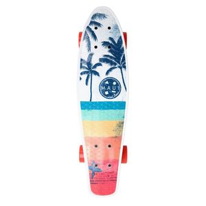 Maui and Sons Printed PU Kicktail in Vibe 80 Skateboard