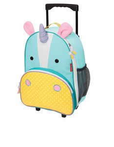 Skip Hop Zoo Kids Rolling Luggage Unicorn