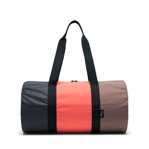 Herschel T/C Reflective Day/Night Duffle Duffle Bag Reflective Black/Hot Coral/Pine Bark