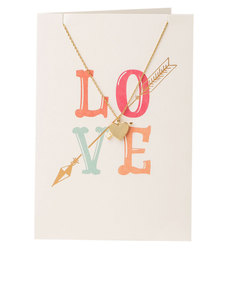 Orelia Love Arrow Heart Necklace Gift Card