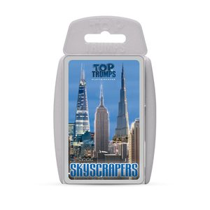 TOP TRUMPS SKYSCRAPERS CARD GAMES ENGLISH & ARABIC