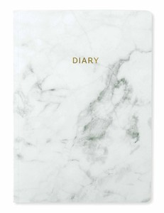 Go Stationery Marbleous White Week To View 2019 A5 Diary