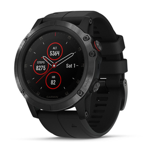 Garmin Fenix 5X Plus Sapphire Black with Black Band GPS Watch