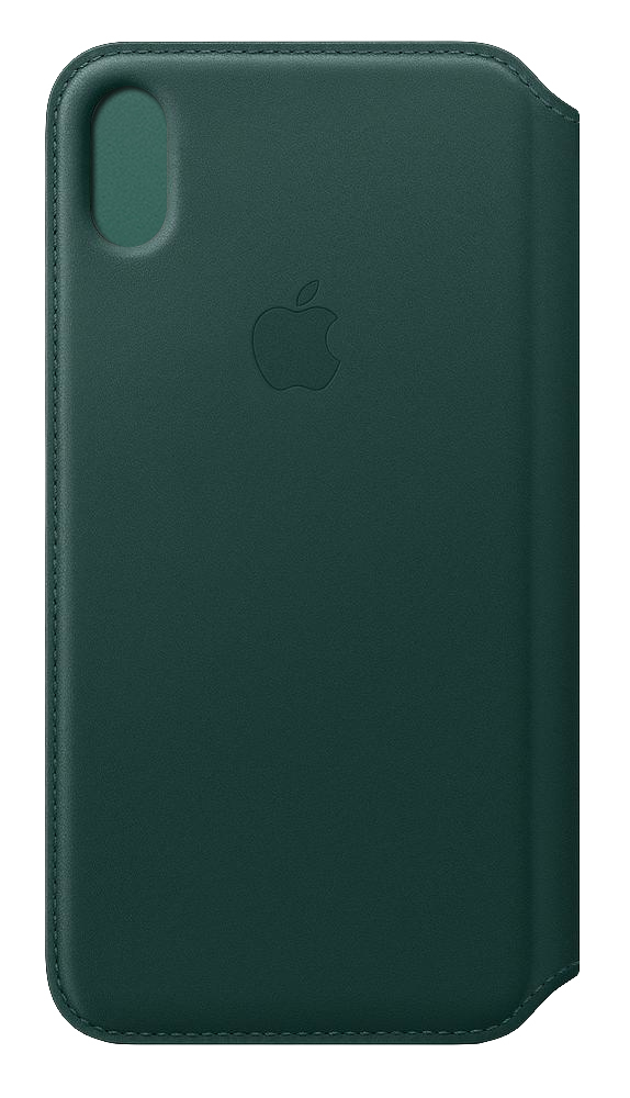 buy popular c0437 456fc Apple Leather Folio Forest Green for iPhone XS Max