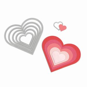 Sizzix Framelits Die Set Hearts [Pack of 6]