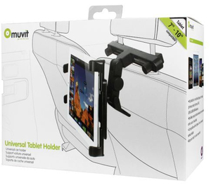 "Muvit Universal Car Holder for Tablets up to 12"" Black"