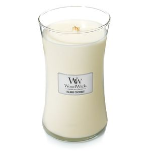 Woodwick Large Jar Island Coconut Off White Candle L