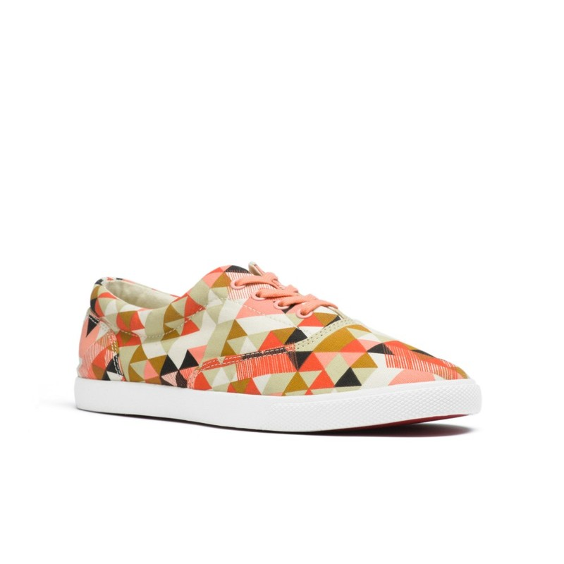 Bucketfeet Delta Pink/Grey Low Top Canvas Lace Women'S Shoes Size 8
