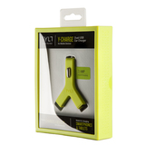 Tylt Y Charge Dual Usb Car Charger 2.1A Green