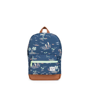 Herschel Pop Quiz Kids Gilligan/Tan Synthetic Leather Backpack