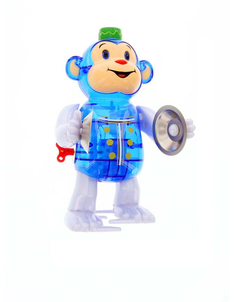 Classic Monkey Blue Wind-Up Toy
