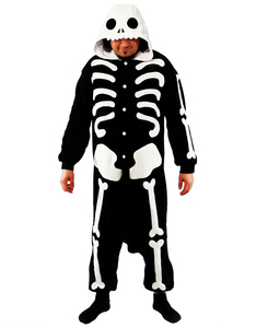 Skeleton Kigurumi Adult Fleece Costume