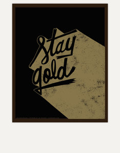 Ustudio Stay Gold Screenprint