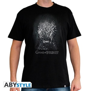 Abystyle Game Of Thrones Iron Throne Black Men'S T-Shirt M