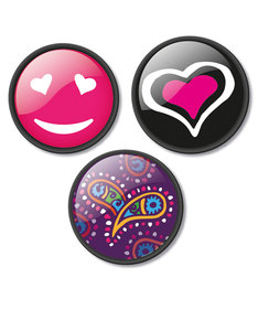 Nikidom Cuore Pins [Pack of 3]