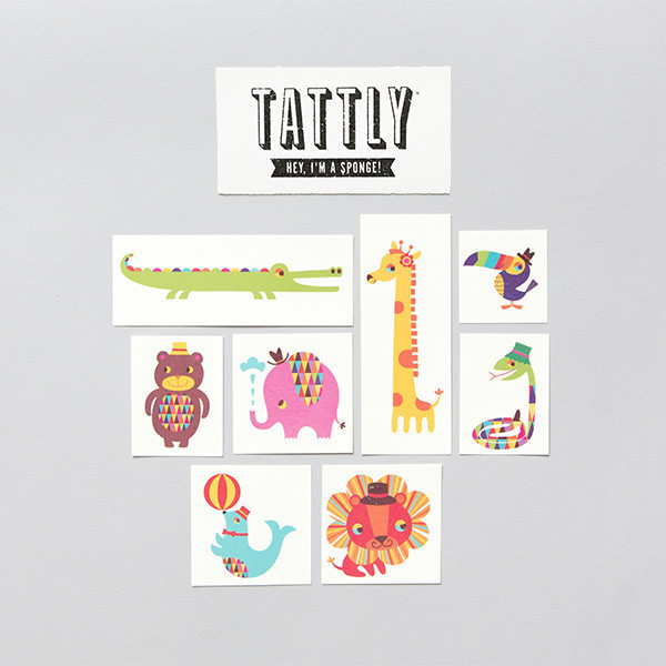 Tattly Menagerie Temporary Tattoo Set