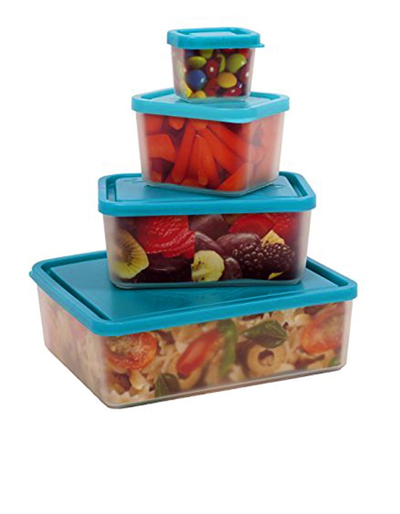 bentology box set of 4 containers turquoise lunch boxes lunch bento boxes stationery. Black Bedroom Furniture Sets. Home Design Ideas