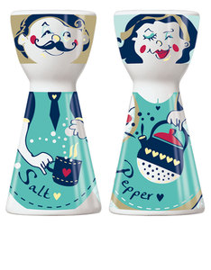 Ritzenhoff Mr. Salt & Mrs. Pepper Dominika Przybylska Salt & Pepper Mill Set