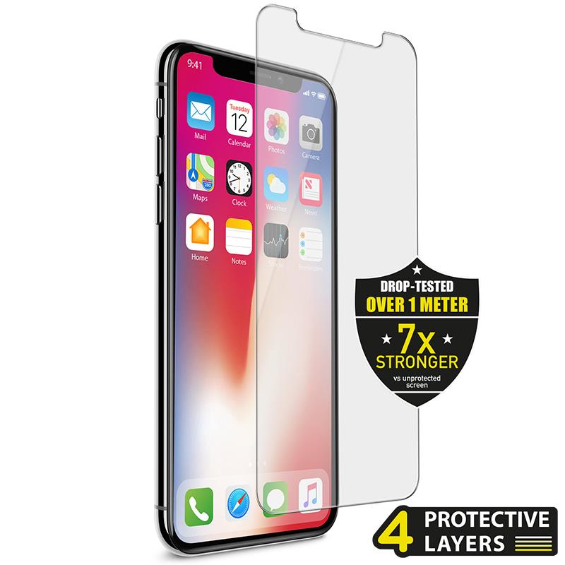low priced b0900 b269d Puro Sapphire Grade Tempered Glass Screen Protector Transparent for iPhone X