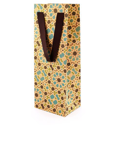 Colors & Shapes Oriental Mosaic Blue Craft Gift Bag Long