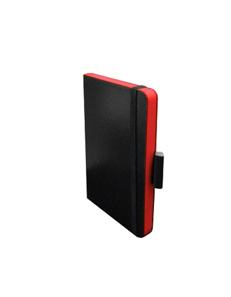 Pocket Notebook Elastic Closure 89 X 140Mm Hard Cover Ruled Red