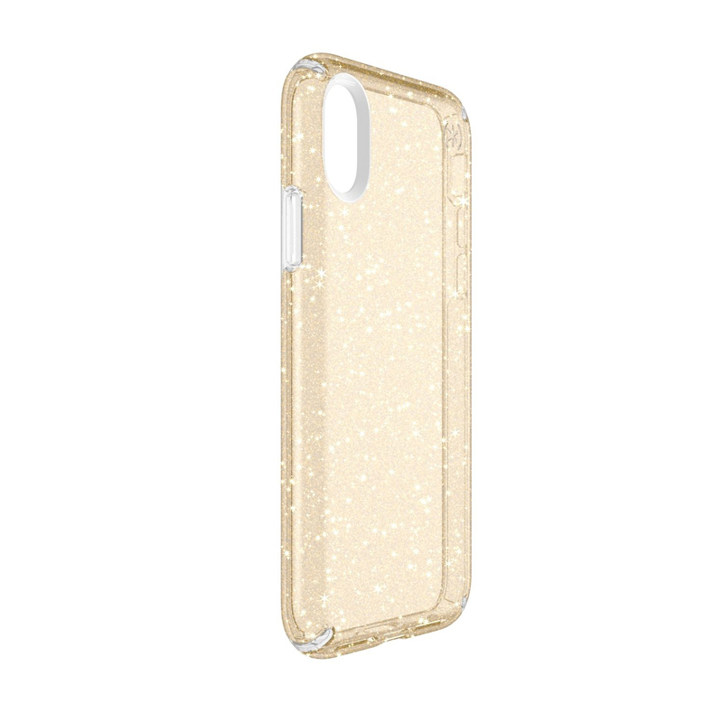 11a79276ad Speck Presidio Case Clear With Gold Glitter for iPhone X   Cases ...