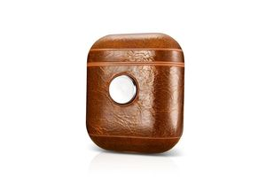 More.Plus Fidget Spinner Oil Wax Vintage Leather Case Coffee for AirPods