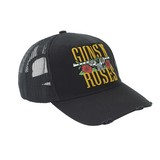 Guns N Roses Stacked Logo Trucker Men's Cap Charcoal