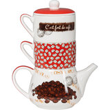 Orval Creations Duo Coffeepot Jeux De Mots Red