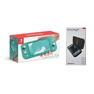 Nintendo Switch Lite Turquoise + Sparkfox Compact Travel Case Case