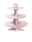 Miss Etoile Paper Cake Stand W/ Gold Lining Rose