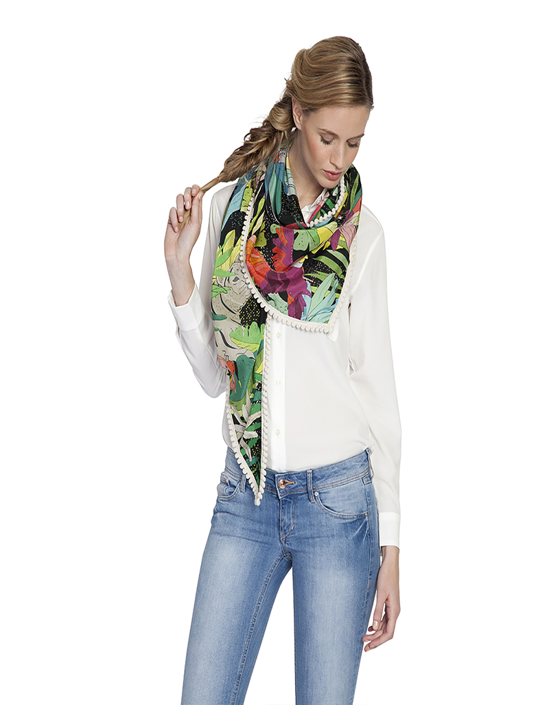 Pom Amsterdam Jungle Cat Night 153 Scarf