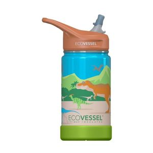EcoVessel Frost Triple Insulated Kids Water Bottle Dinosaur 350 ml