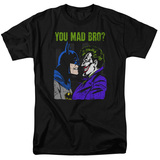 Batman You Mad Bro-SS Men's Black T-Shirt S