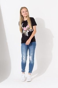 Hype Butterfly Black/Rose Kids T-Shirt
