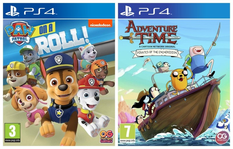 ef2d085367e PAW Patrol: On a Roll! + Adventure Time: Pirates of the Enchiridion ...