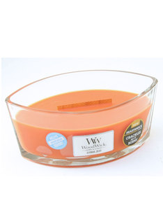 Woodwick Heart Wide Flame Citrus Zest Gray Large Candle