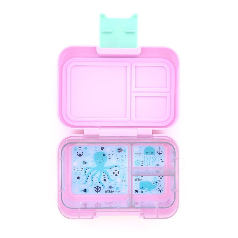 Munchbox Munchi Snack Pink Marshmallow Mint Latch Pink/Mint Lunchbox