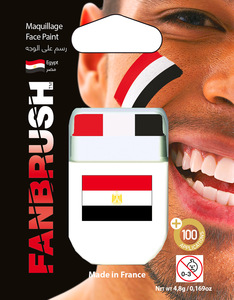 Fanbrush Egypt Flag Face Paint