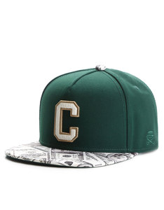 Cayler & Sons Gold Cee Benjamins Forest Green Cap