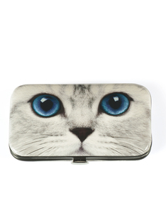 Cats Eye Silver Kitty Nail Care Set