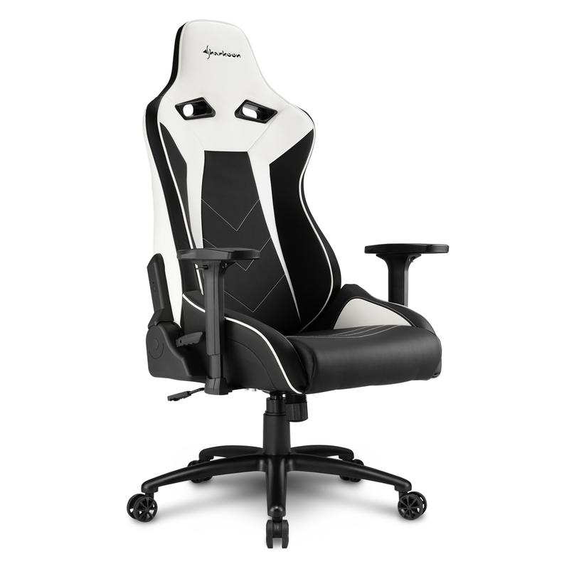 Enjoyable Sharkoon Elbrus 3 Black White Gaming Seat Gaming Chairs Gaming Accessories Gaming Virgin Megastore Pdpeps Interior Chair Design Pdpepsorg
