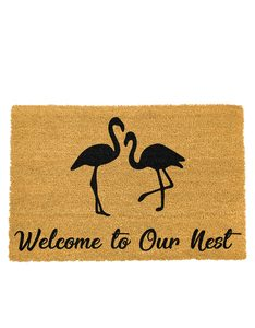 Artsy Doormat Welcome to our Nest