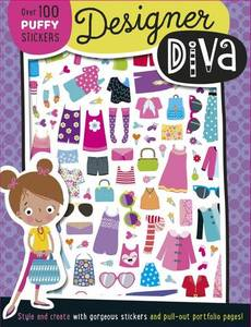 Designer Dina Puffy Sticker Book